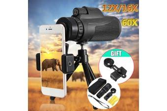 40x60 Optical Telephoto Telescope Monocular Camera Lens+Clip+Tripod For Phones