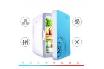 20L Portable Mini Refrigerator Cooler Warmer Dual-use Fridge Box For Car Home Blue