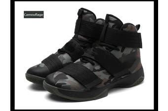 Herren Basketball Sneakers High Top Sportschuhe Turnschuhe Freizeitschuhe Schuhe(camouflage,42)