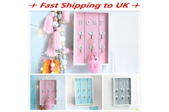 Shabby Chic Wooden Wall Mounted Key Holder Cabinet Key Storage Box Home Decor