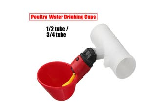 3/4 Tube Chicken Water Drinking Cup Adjustable Auto Poultry Tools