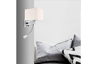 Aluminum Fabric Wall Sconce Light Lamp Wall Fixture Beding Room LED Reading Lamp(1 LED Light)