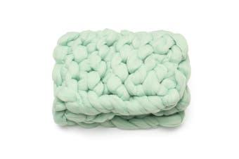 Lareg Warm Handmade Sofa Chunky Knitted Blanket Wool Thick Line Yarn Throw ~