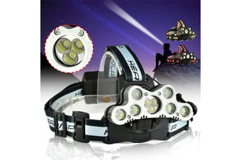 6-mode Dimming Flashlight 100000 LM 9xt6 LED Headlamp USB Rechargeable Flashlight
