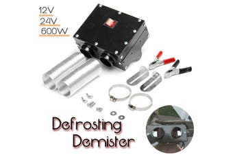 600W 12V/24V Car Truck 2 Fan Heater Defroster Demister Rapid Heating Warmer
