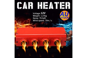 AU 12V Universal 4 Fan Car Speed Switch Heater Heat Defroster Demister w/Tools(red,Type B 12V)