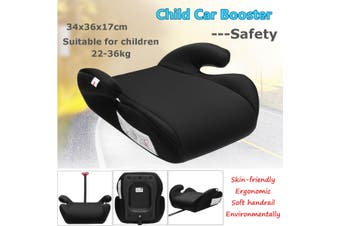 Safe Sturdy Baby Kid Children Toddler Car Booster Seat Pad For 3-12 Year 15-36kg (Black)