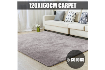 120X160cm Soft Anti-skid Carpet Floor Mat Shaggy Rug Living Room Bedroom Decor