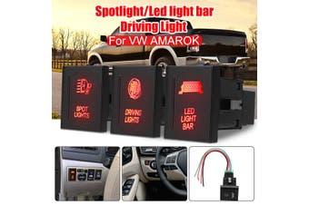 LED Light Bar/Spot Light/Driving Light LED Push Switch Left Side For VW For AMAROK(Left Driving Light)