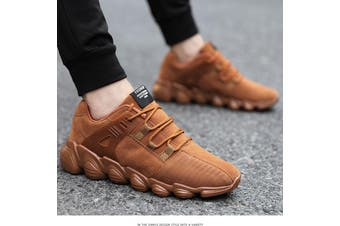 US Men Running Walking Sport Shoes Outdoor Athletic Casual Skatebaord (brown,EU45/US10.5)