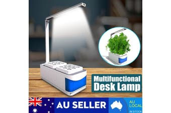 Multi-functional Desk Reading Lamp Intelligent Plant Growth Lamp Full Spectrum Flowers and Vegetables Smart Herb Garden Indoor Hydroponics Cultivation Adjustable Fast Grow LED Light Kit