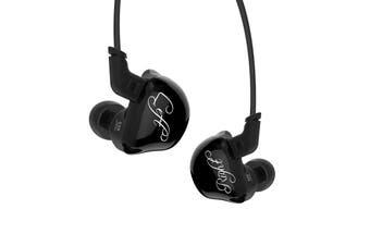 [Six Drivers, Good Balance] Original KZ ZSR Hybrid Driver Earphone Dual Balanced Armature Drivers + One Dynamic Driver Pluggable Noise Cancelling Sport Headphones Without Mic Black