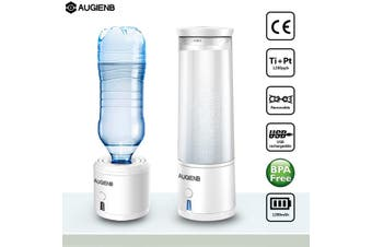 AUGIENB H4 Hydrogen Rich Water Maker Ionizer Generator Alkaline Energy Bottle USB Plug
