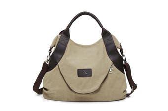 Large Pocket Casual Women Shoulder Cross body Handbags Canvas Leather Bags