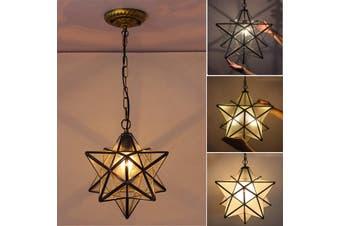 110-220v E27 Retro Ceiling Lamp Vintage Moravian Star Hanging Pendant Lamp Home Decor