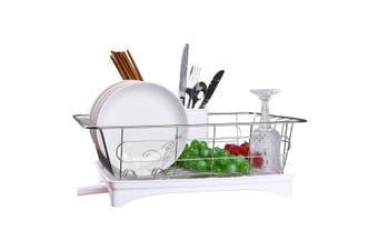 Kitchen Dish Rack Plates Bowl Drying Organizer Holder Drainer Stainless Steel(white,Type2)