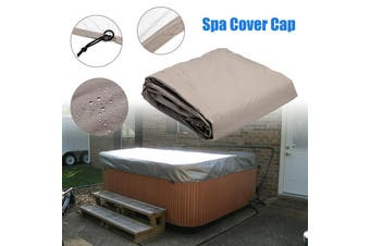 240* 240*85cm Silver Hot Tub Spa Cover Cap Waterproof Lightweight Bag Durable Protective Guard