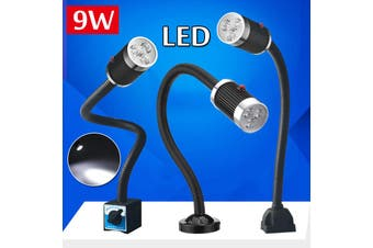 9W Waterproof Flexible CNC Machine LED Working Lamp Magnetic/Fixed Base Light