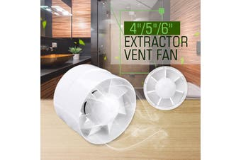 5'' Inline Duct Fan Booster Exhaust Ventilator Ventilation Hydroponic Vent