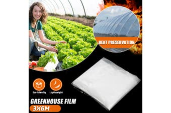 200μ Heavy Duty Clear Greenhouse Film UV Stabilised Garden Plant Supply 5 Size