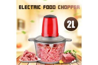 Electric Food Chopper Mixing Food Meat Grinder Blender Household Processor Machine 220V 2L