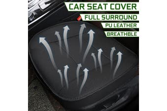 53*50*12cm PU Leather Universal Car Front Seat Cover Kit Breathable Cushion with Storage Bag