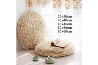 30-60cm Round Tatami Floor Pillow Seat Cushion Weave Handmade Soft Yoga Mat