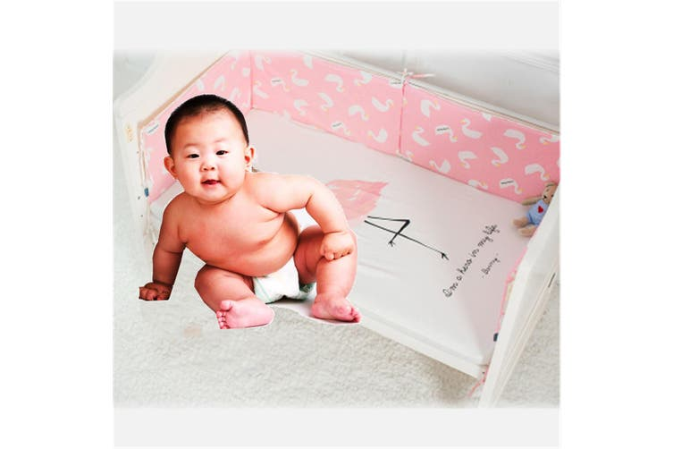Infant Newborn Crib Bumper Baby Comfy Cushion Pad Nursery Bedding Protector