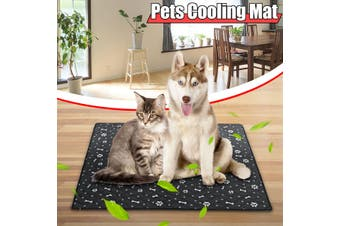 Free Shipping + Flash Deal Pet Dog Cat Soft Summer Cooling Bed Fiber Mats Chilly Pad Cushion Black S,M,L,XL NEW