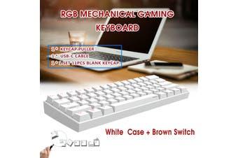 [Kailh BOX Switch] Anne Pro 2 60% NKRO bluetooth 4.0 Type-C RGB Mechanical Gaming Keyboard(white,RGB Red Switch)