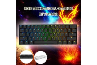 Anne Pro 2 Kailh BOX Switch 4.0 RGB Mechanical Gaming Keyboard Bluetooth -Red /Brown /White Switch(black,RGB Red Switch)