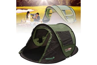 5-8 Person Family Instant Pop Up Tent Outdoor Waterproof Camping Hiking Tent # L(green,L for 5-8 people)