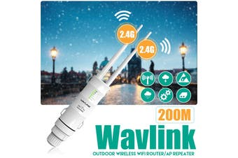 2.4G 300Mbps Wavlink AC600/N300 Technology High Power Outdoor Weatherproof Wireless WIFI Router/AP Repeater-AU Plug