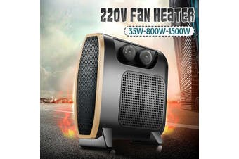 35-1500W Portable Electric Fan Heater Warm Thermostat Overheat Protection Silent