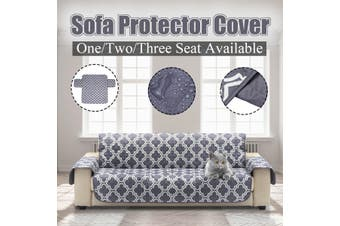 3 Seater Pet Dog Cat Couch Sofa Furniture Protector Cover W/Strap Waterproof