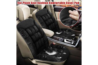 Front Plush Keep Warm Anti Slip Car Seat Lattice Cushion Cover Pad