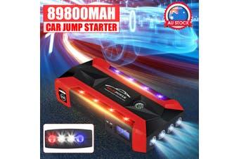 68800/89800mAh 12V Portable Car Jump Starter Power Bank 1/2 USB For Emergency Start Emergency