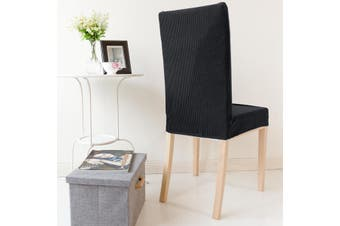 Winter Thicken Spandex Polar Fleece Dinning Chair Cover Seat Cover Super Elastic Stretch Living Room Solid Color