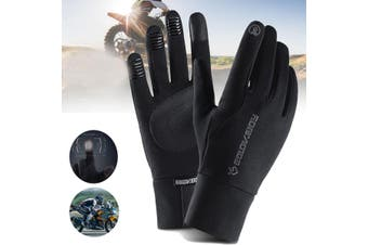1 Pair Motorcycle Gloves Waterproof Guantes Moto Touch Screen Warm-L