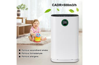 Augienb Air Purifier 6 Stage HEPA Filter Ionic Smoke Odor Dust Remover anti Allergies - EU Plug
