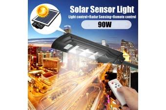 20W-60W Solar LED Wall Street Light Induction PIR Motion Sensor Outdoor Lamp +RC