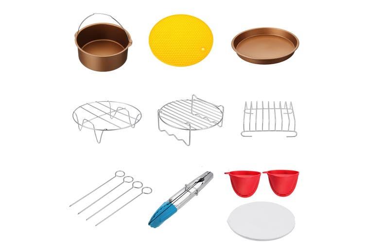 7inch 9PCS Air Fryer Accessories Airfryer Chips Baking Pan Set For 3.2-6.8QT