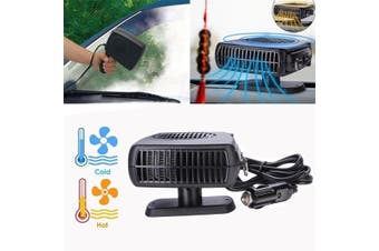 New Portable 12V 2in1 Car Vehicle Ceramic Heater Cooler Fan Defroster Demister