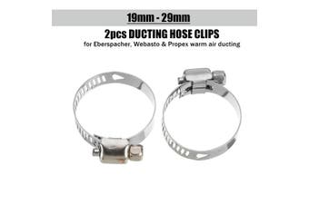 Pair 60mm/75mm/80mm Heater Ducting Hose Clips for Air Parking Heater For Eberspacher Propex(19mm-29mm)