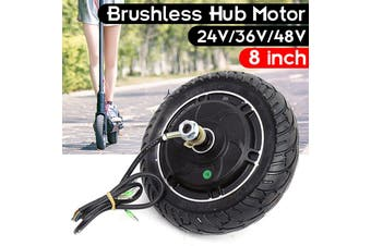 8'' 36V DC Brushless Toothless Electric Scooter Hub Wheel Motor 200mm