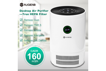 AUGIENB Powerful Desktop Air Purifier HEPA Filter Cleaner Remove Odor Dust Mold Smoke