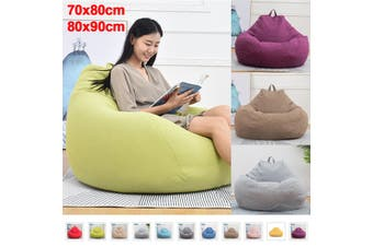 Large Bean Bag Chairs Couch Sofa Cover Indoor Lazy Lounger For Adults 80x90cm Recliner Bean Bag Gaming Chair Indoor Outdoor Extra Large Beanbag Gamer Chair #Small Size