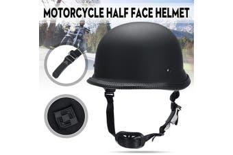 Universal Motorcycle Half Face Helmet Dot German Style For Harley Matt / Glossy Black (matteblack,Matt Black)