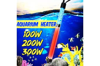 200W 220V Aquarium Submersible Heater Automatic Thermostat Anti-Explosion Fish Tank Water Heating Adjustable Temperature