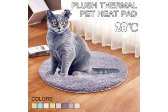 40CM Pet Heating Warmer Blanket Bed Pad Puppy Dog Cat Electric Heater Mat USB Grey